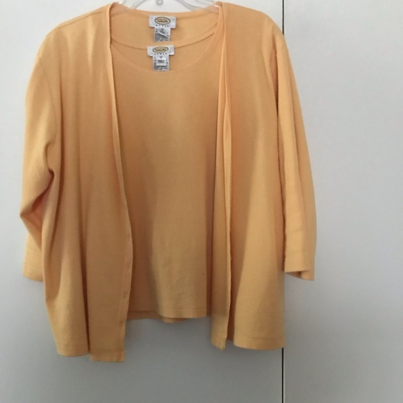 Talbots Other - 2 piece cotton shell and 3/4 sleeve sweater